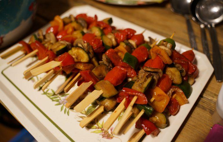 Veggies ons skewers